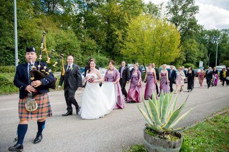 Dudelsackauftritt-Hochzeit