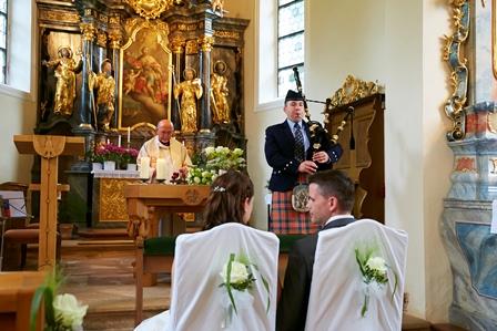 Dudelsackpfeifer-Hochzeit