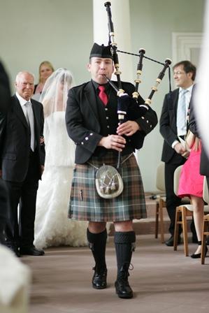 Dudelsackspieler-Hochzeit