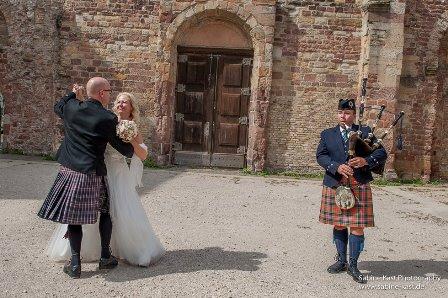 Dudelsackspieler-Hochzeitstanz