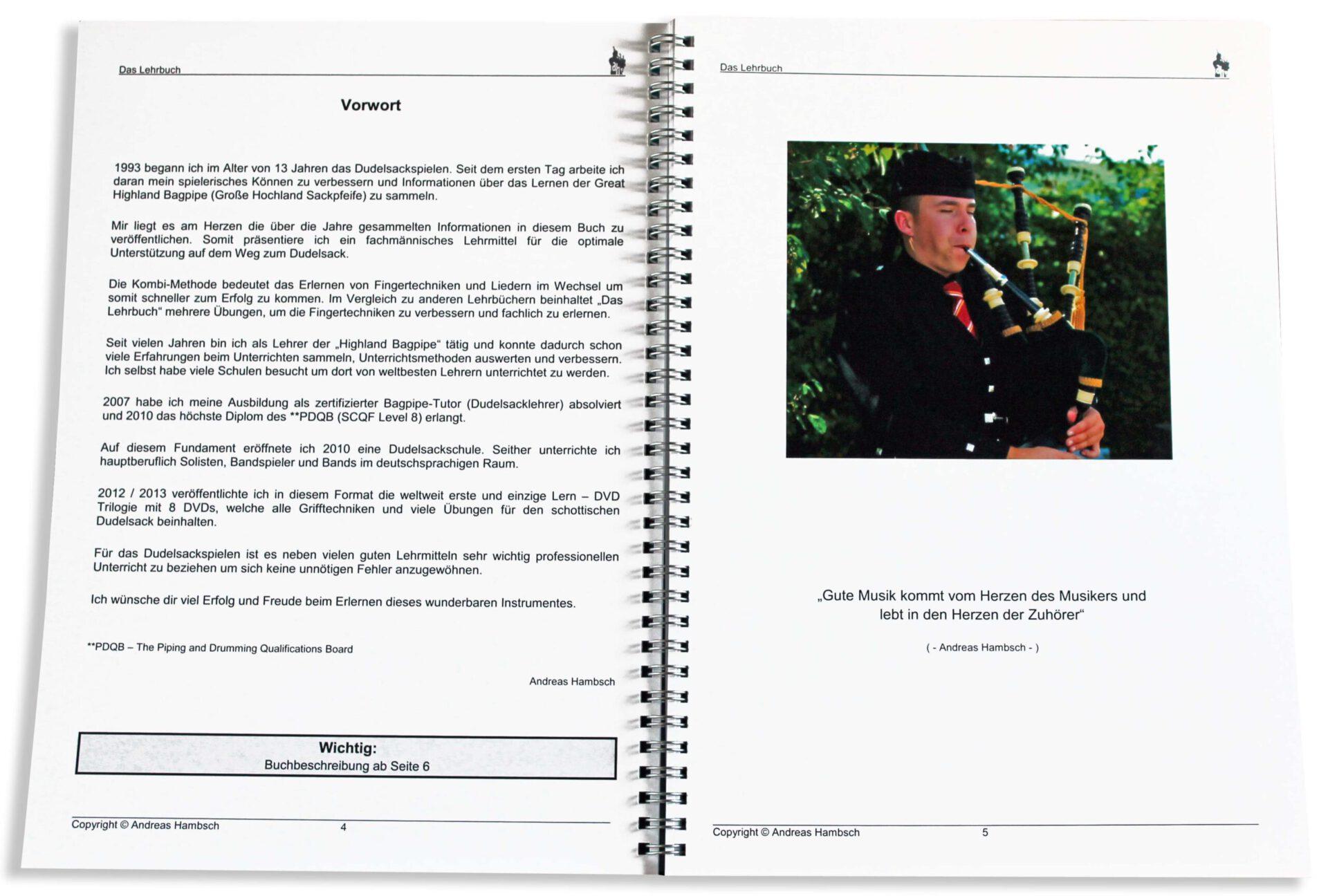 Dudelsack-Lehrbuch-Vorwort