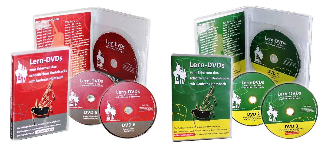 """Dudelsack-Lern-DVDs-""""Grün""""-und-""""Rot"""""""