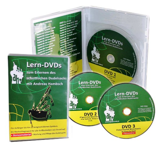 """Dudelsack-Lern-DVDs-""""Grün"""""""
