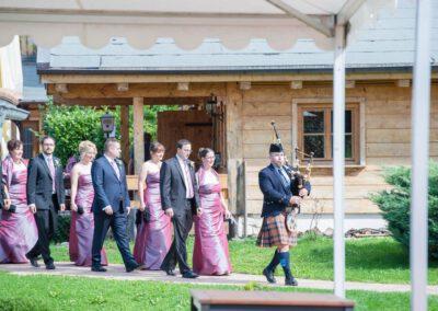 Hochzeit-Dudelsackspieler